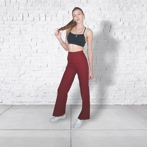 LEVI'S | Rare Vintage Maroon High Waisted Trousers